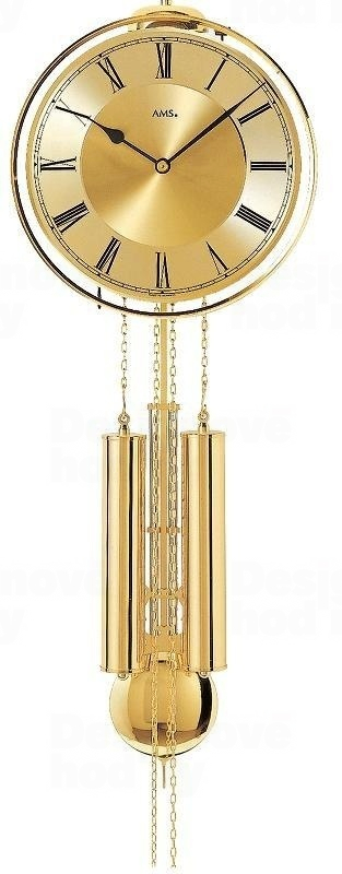 Luxusní kyvadlové mechanické nástěnné hodiny 356 AMS