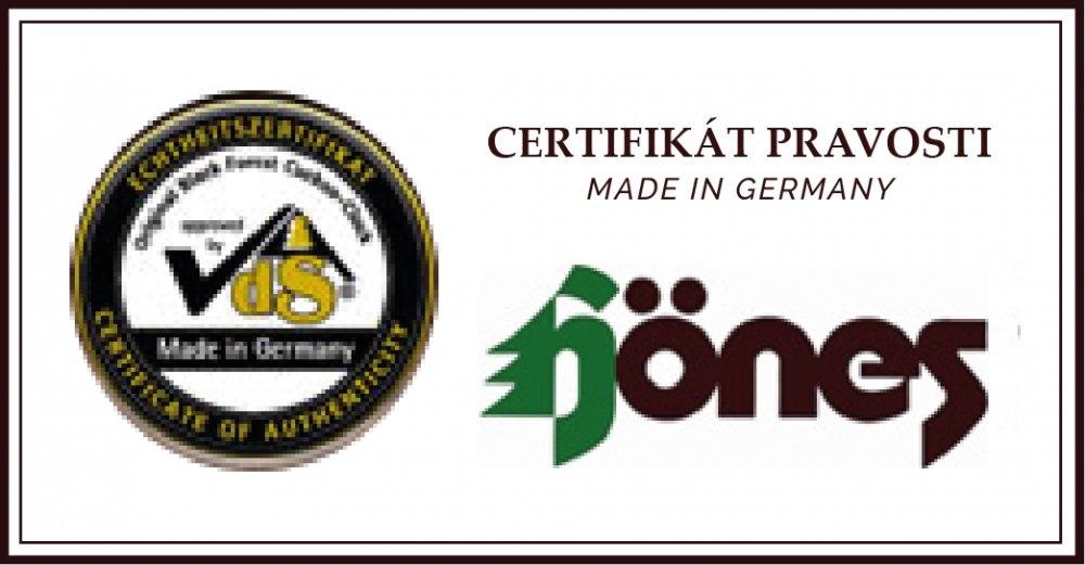 Certifikát pravosti Hönes