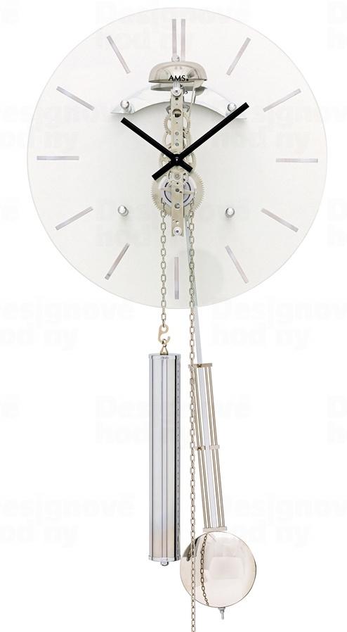 Designové kyvadlové mechanické nástěnné hodiny 308 AMS