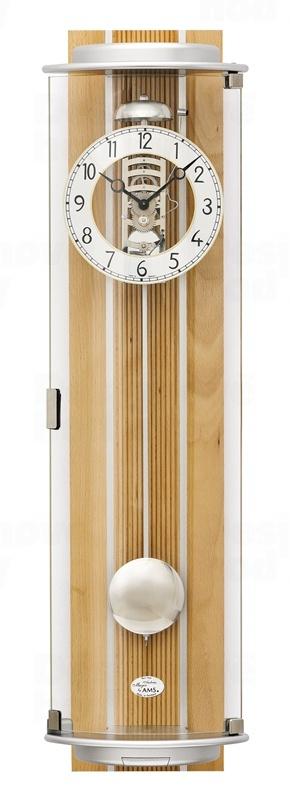 Luxusní nástěnné mechanické kyvadlové hodiny 2715/18 AMS 77cm
